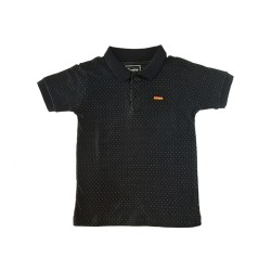 Camiseta Gola Polo Poá Preta