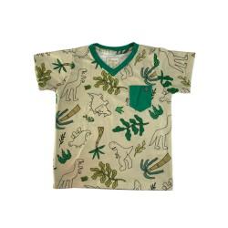 Camiseta Gola Em V,...