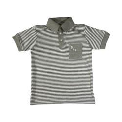Camiseta Gola Polo Listra...