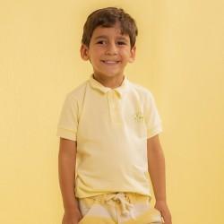 Camiseta Gola Polo Amarela