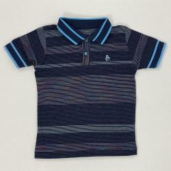 Camiseta Gola Polo em Listras