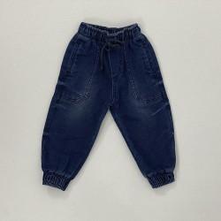 Calça em Jeans Com Punho