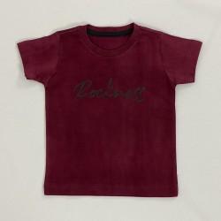 Camiseta Gola Redonda Vinho