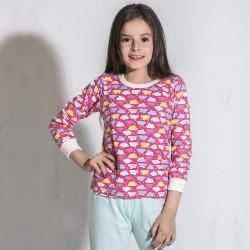 Conjunto Pijama Manga Longa...