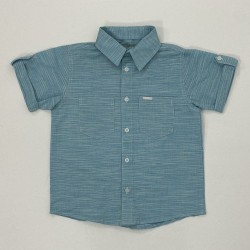 Camisa De Tecido Manga Curta
