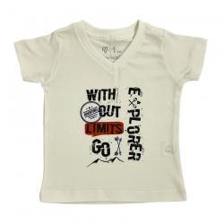 Camiseta Gola V Com Estampa